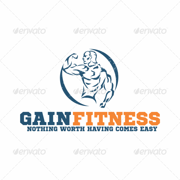 GraphicRiver Gain Fitness Logo 5607206