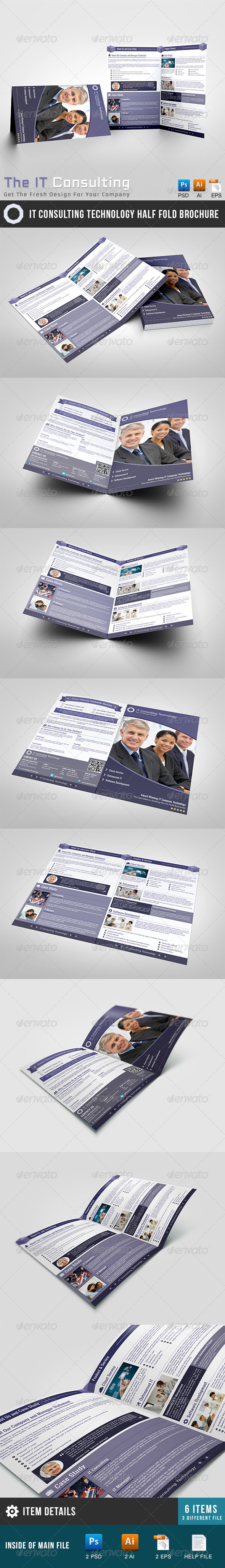 GraphicRiver IT Technology Solution Half Brochure 5607358