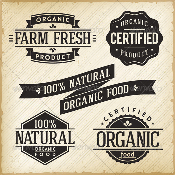 GraphicRiver Organic Food Labels 5608243