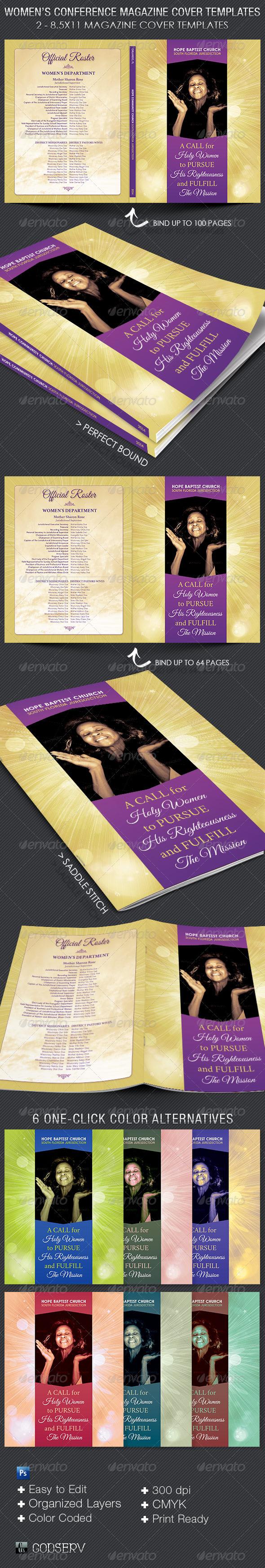 GraphicRiver Women's Convention Magazine Cover Template 5608280