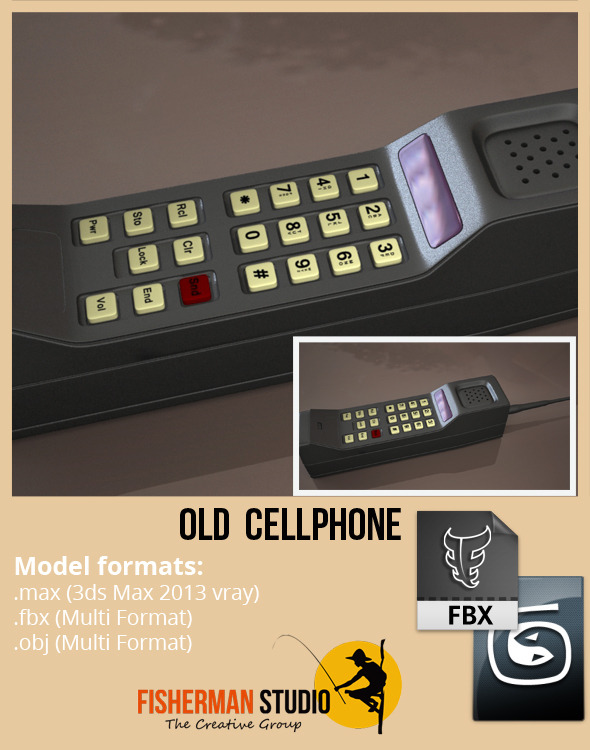 3DOcean Old Cellphone 5608560