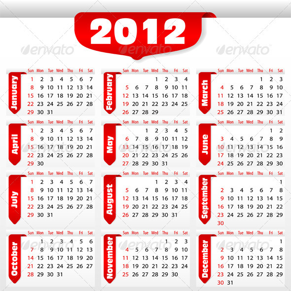 GraphicRiver Calendar for 2012 year 576721