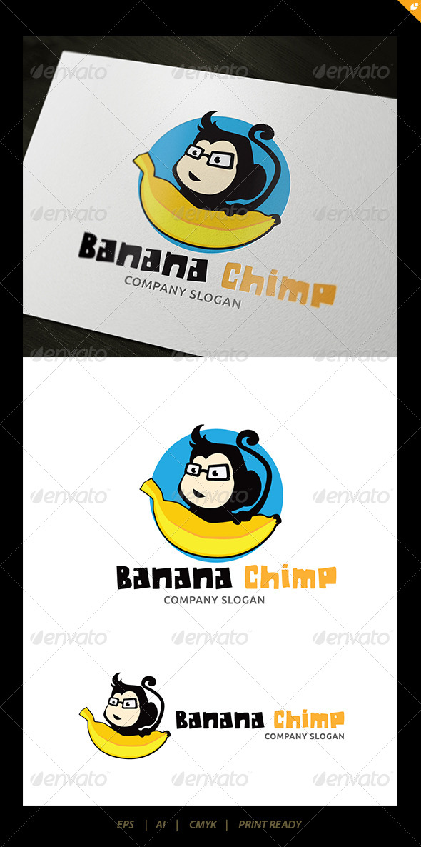 GraphicRiver Banana Chimp Logo 5609262