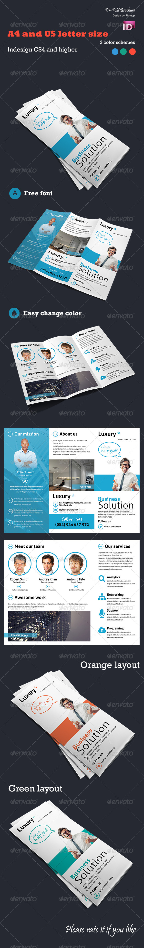 GraphicRiver Trifold brochure Luxury 5609338