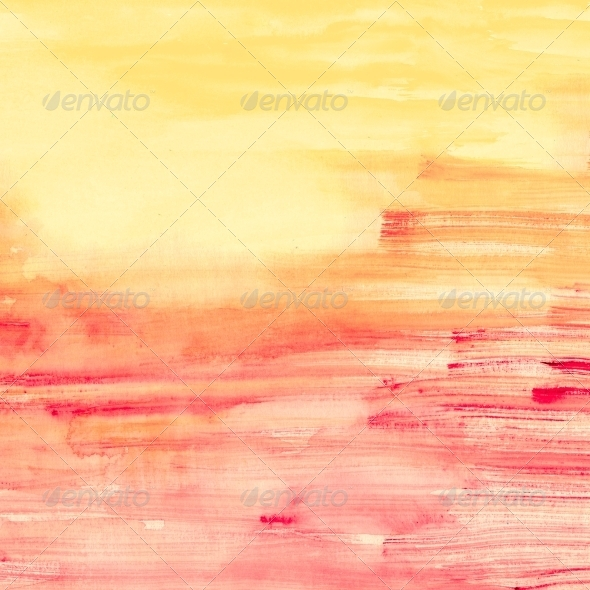 GraphicRiver Pink and Orange Watercolor Stripes 5609907