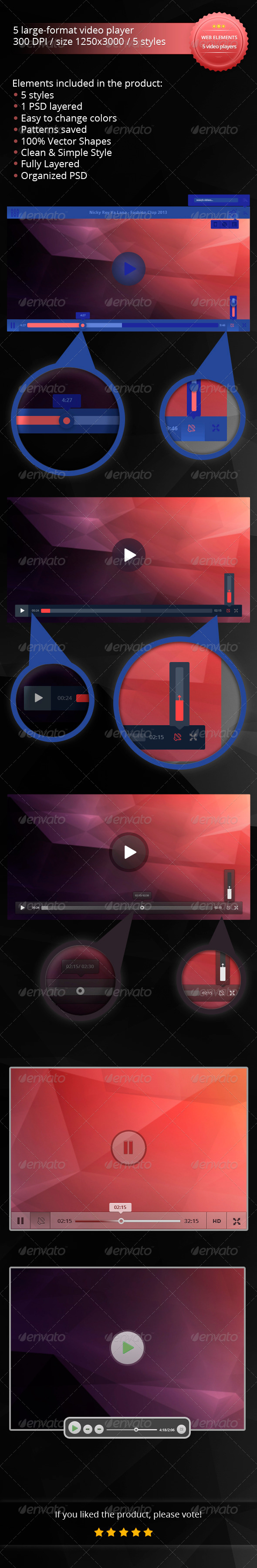 GraphicRiver 5 Large-Format Video Players 5609986