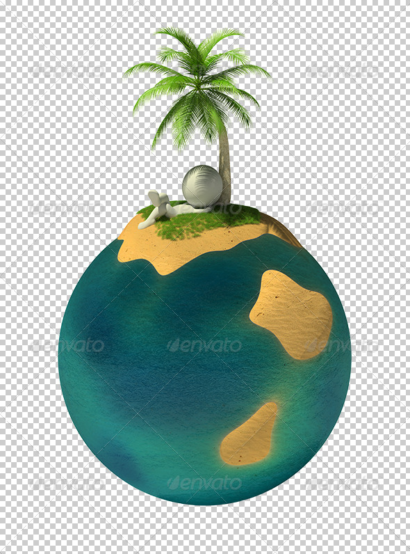 GraphicRiver 3D small people desert island 5610222