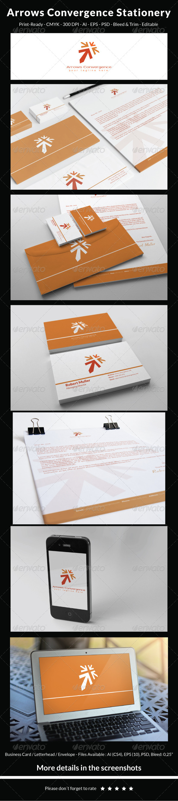 GraphicRiver Convergence Stationery 5610236