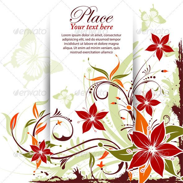 Floral frame GraphicRiver - Vectors - Conceptual Nature Flowers