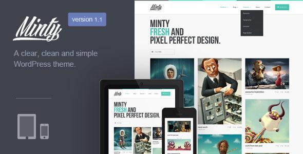 Minty | Responsive Portfolio WordPress Theme