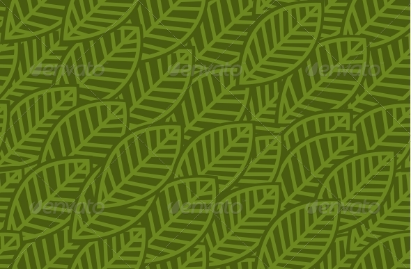 GraphicRiver Leaves Background Pattern Vector Illustration 5610768