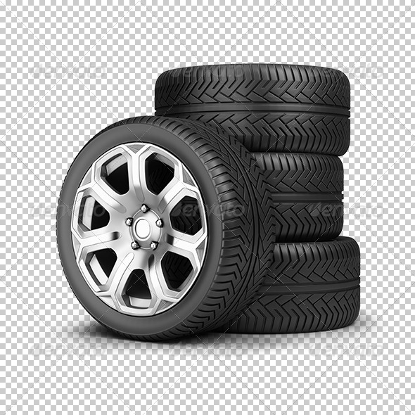 GraphicRiver Stack of wheels 5610814