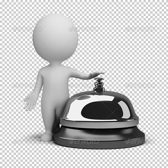 GraphicRiver 3D small people service bell 5610816