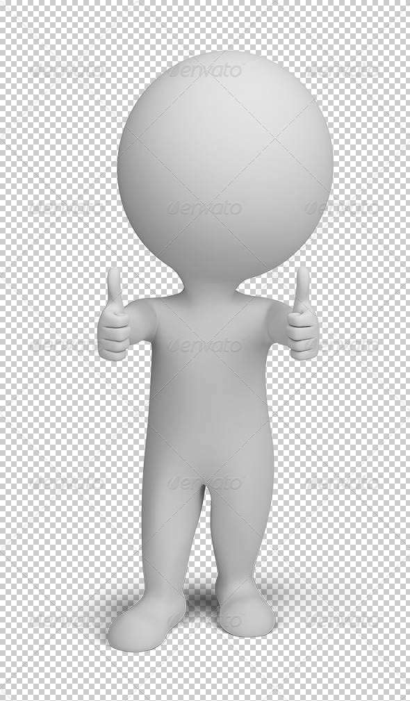 GraphicRiver 3D small people double thumbs up 5610824