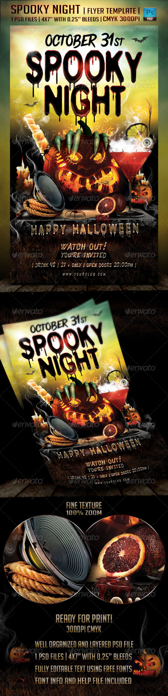 GraphicRiver Spooky Night Flyer Template 5610834
