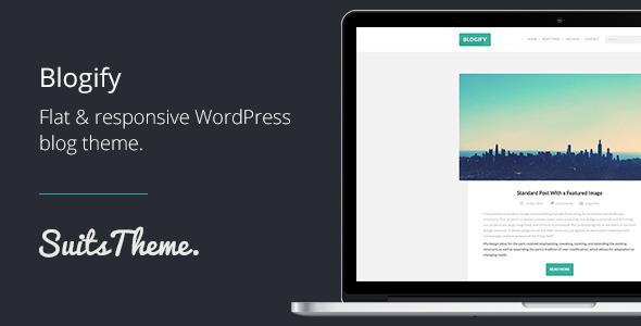 ThemeForest Blogify Flat Responsive WordPress Blog Theme 5610841