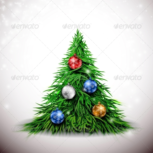 GraphicRiver Christmas Tree with Decorations 5610951