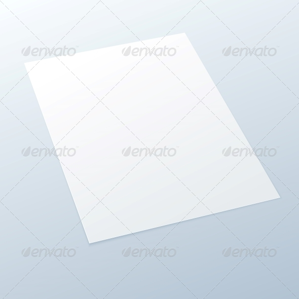 GraphicRiver Blank Empty A4 Office Paper on a Light Background 5610952