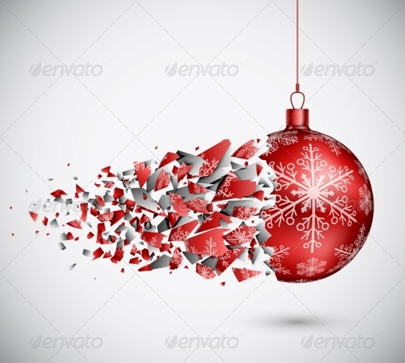 GraphicRiver Broken Red Christmas Ball 5610953