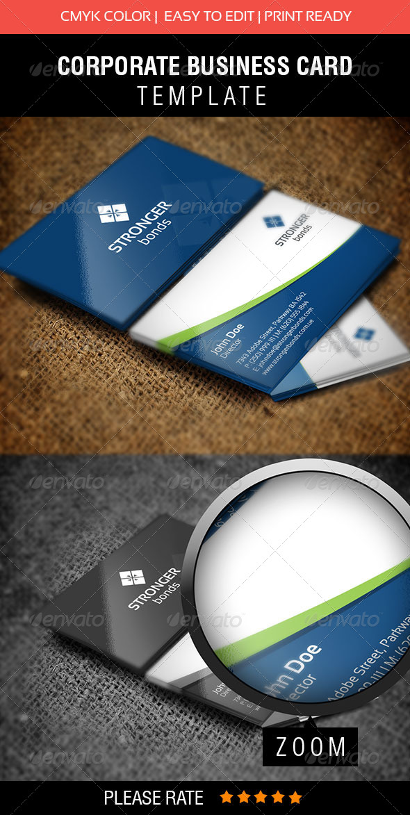 GraphicRiver Stronger Bonds Business Card 5611011