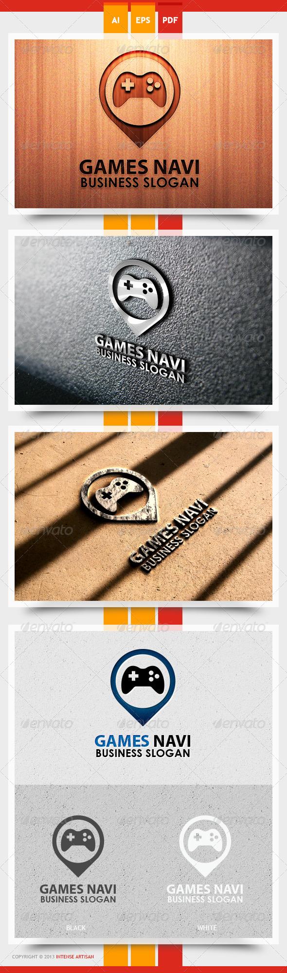 GraphicRiver Game Navi Logo Template 5611208