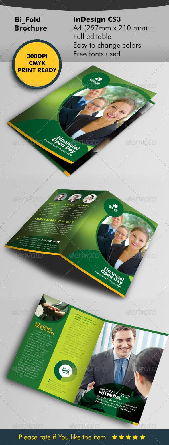 GraphicRiver Bifold green designe 5611658