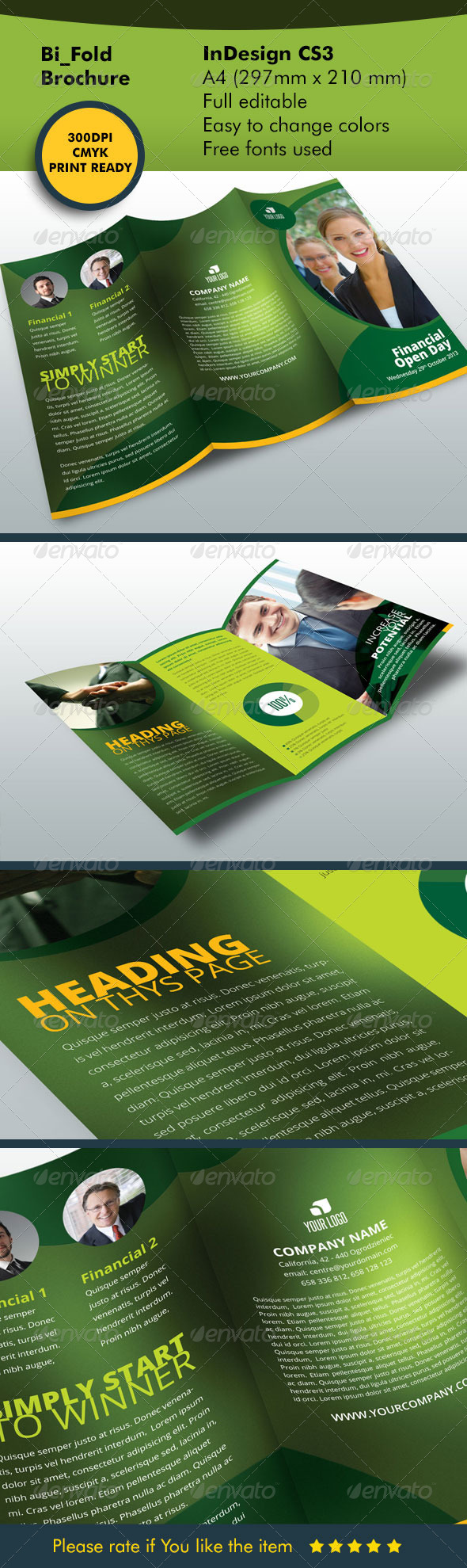 Tri-fold Brochure Corporate - Informational Brochures