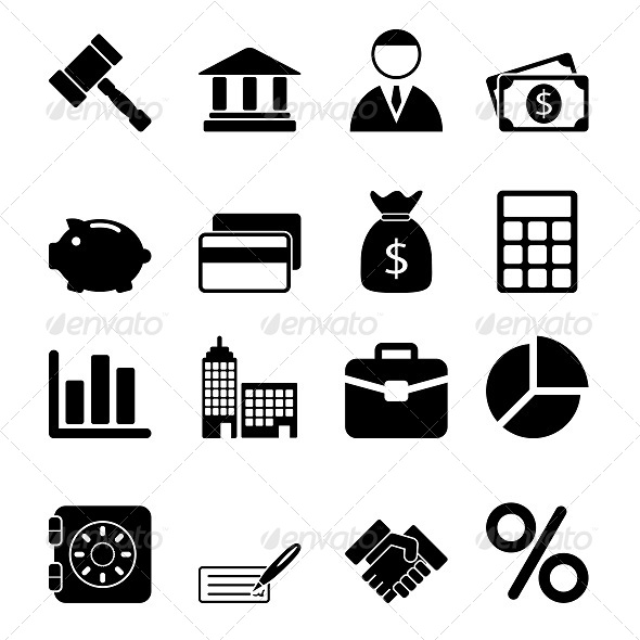 GraphicRiver Business Icons Set 5611687