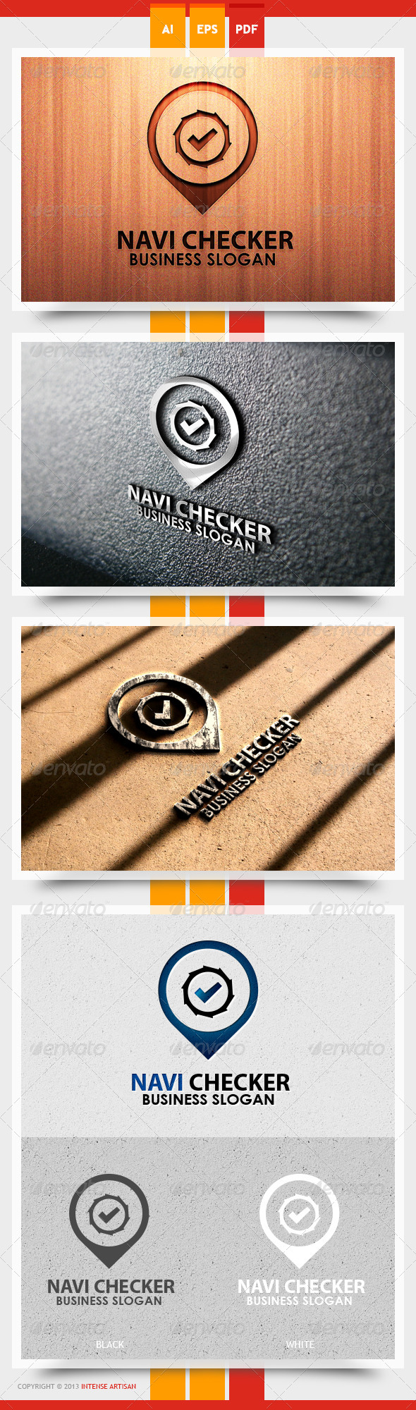 GraphicRiver Navi Checker Logo Template 5611710