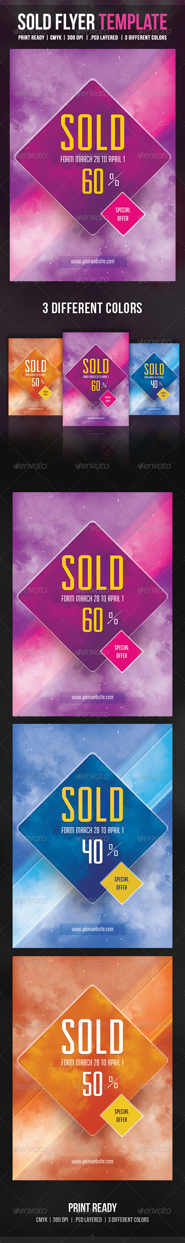 GraphicRiver Sold Flyer Template 5611721
