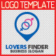 Lovers Finder Logo Template - GraphicRiver Item for Sale