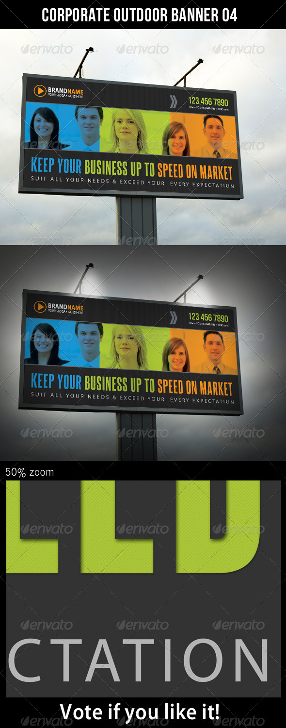 Corporate Outdoor Banner 07 - Signage Print Templates