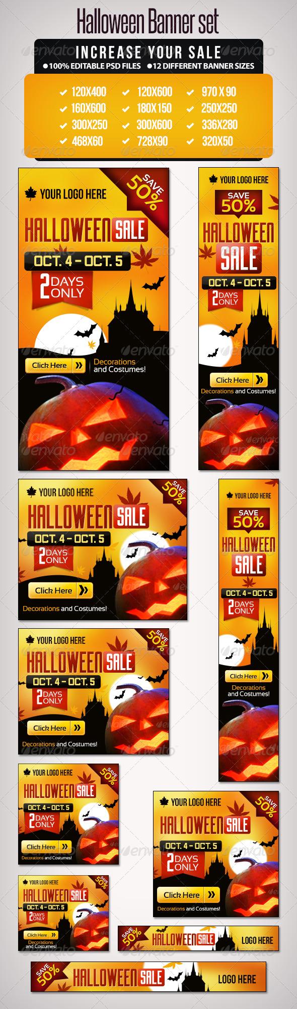 GraphicRiver Halloween Banner Set 1 12 Google Standard Sizes 5611979