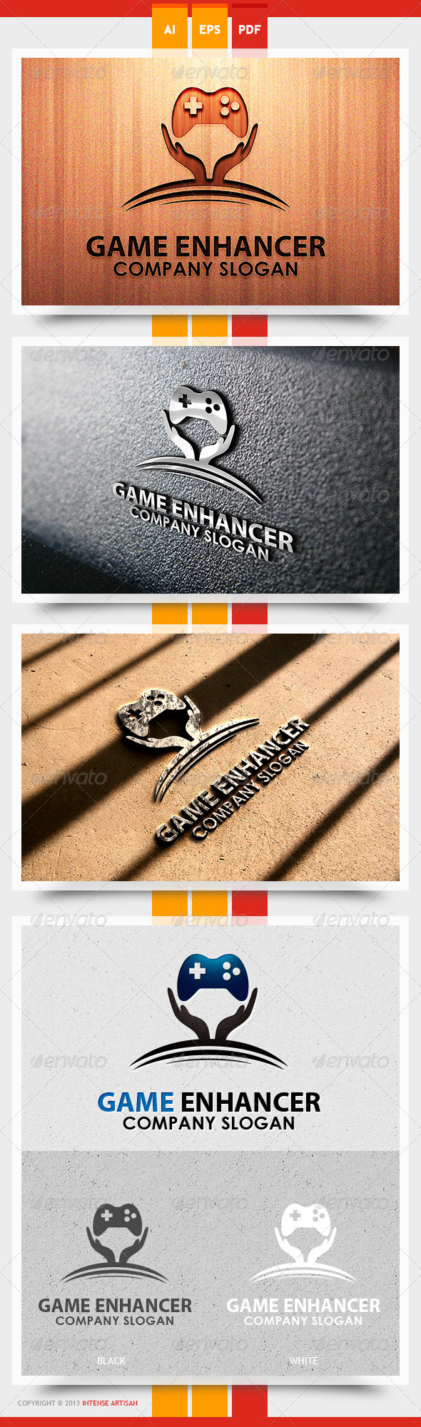GraphicRiver Game Enghancer Logo Template 5612042