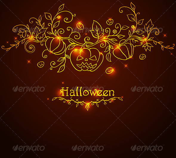 GraphicRiver Hand Drawn Halloween Background 5612440