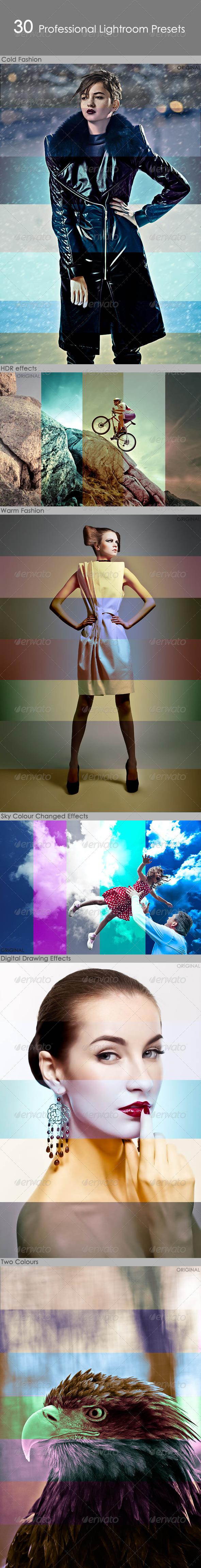 GraphicRiver 30 Professional Lightroom Presets 5585498