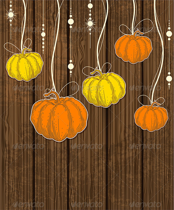 GraphicRiver Background with Pumpkins 5612460