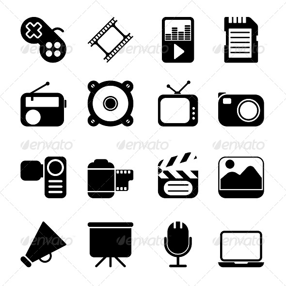 GraphicRiver Multimedia Icons 5612465