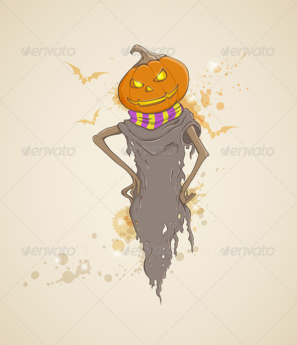 GraphicRiver Background with Scarecrow 5612476