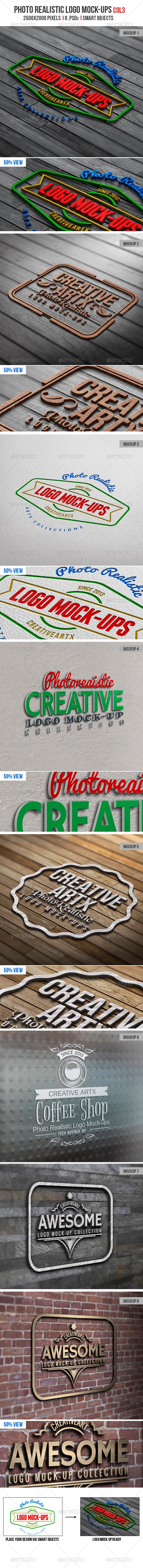 Photorealistic Logo Mock-Ups Col.3 - Logo Product Mock-Ups