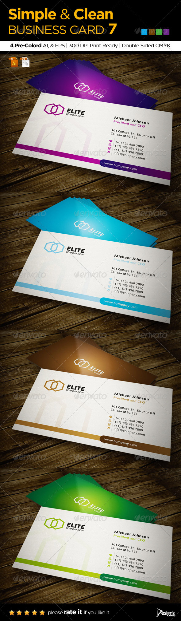 GraphicRiver Simple and Clean Business Card 7 5562807
