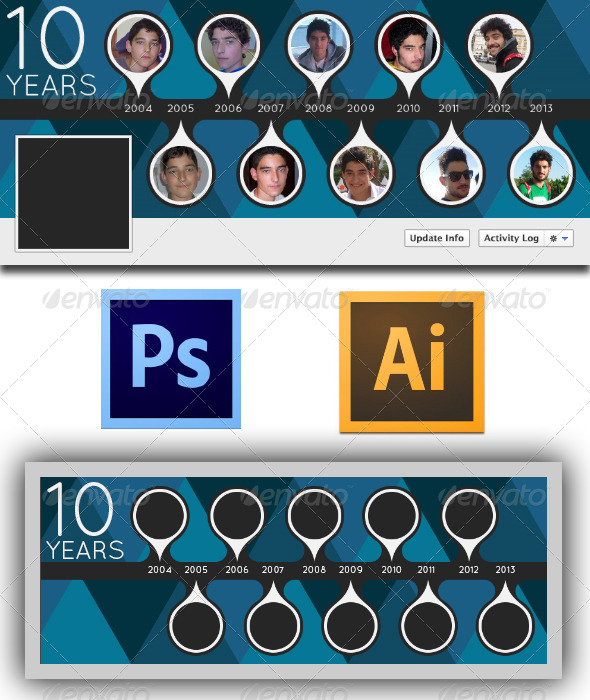 GraphicRiver Ten Years Fb Timeline 5613237