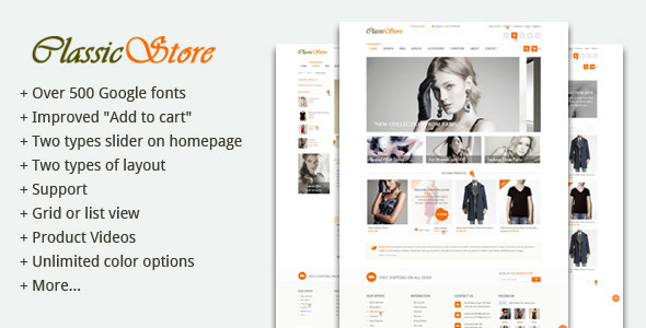 ThemeForest ClassicStore Powerfull Prestashop theme 5503470