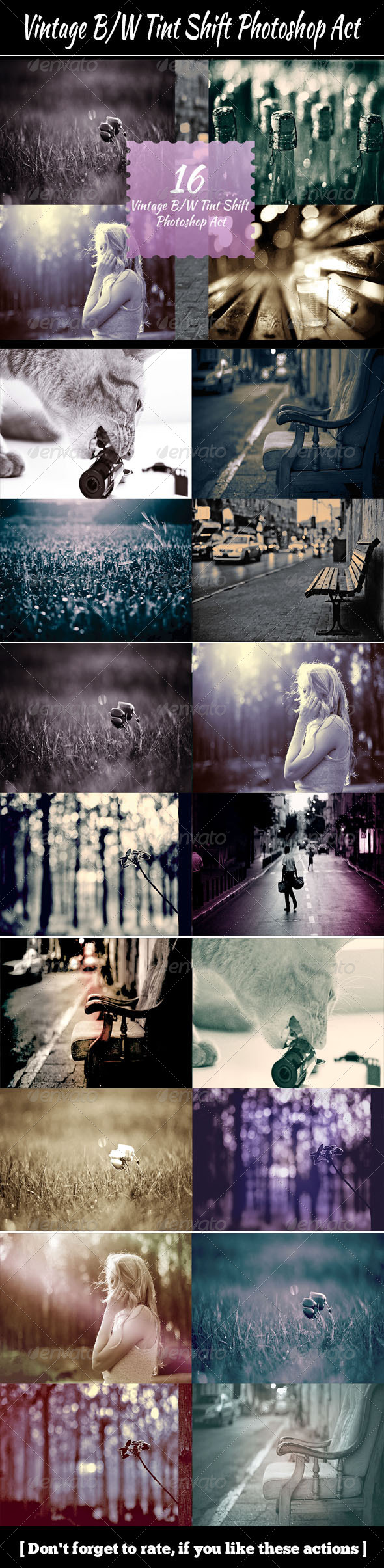 GraphicRiver Vintage B&W Tint Shift Photoshop Act 5596702