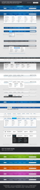 GraphicRiver Ultimate Web Menu Navigation Pack 577418