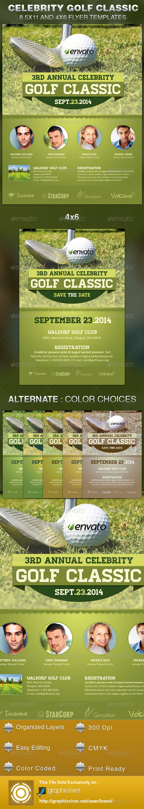 GraphicRiver Celebrity Golf Classic Flyer Template 5613586