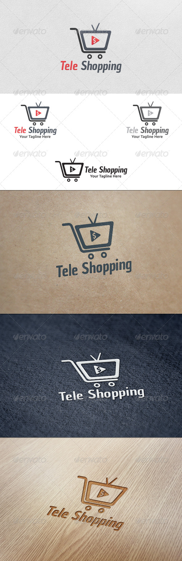 GraphicRiver Tele Shopping Logo Template 5613774