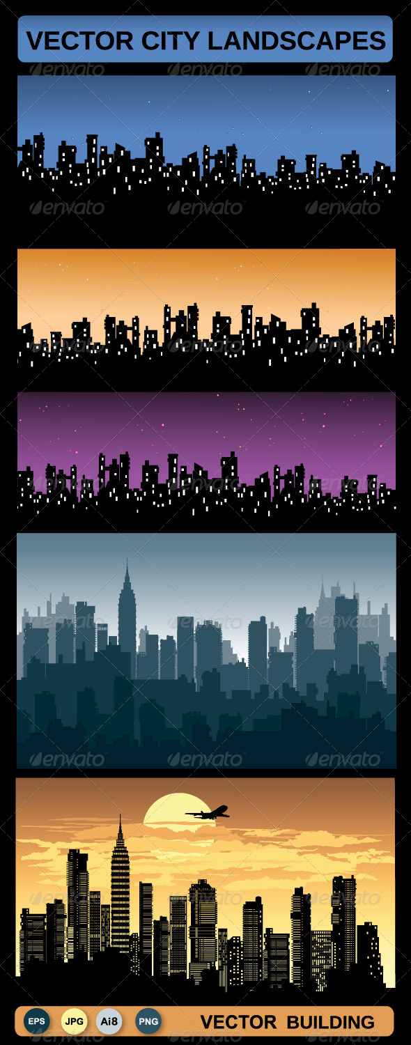 GraphicRiver Vector Urban Landscapes 5614523
