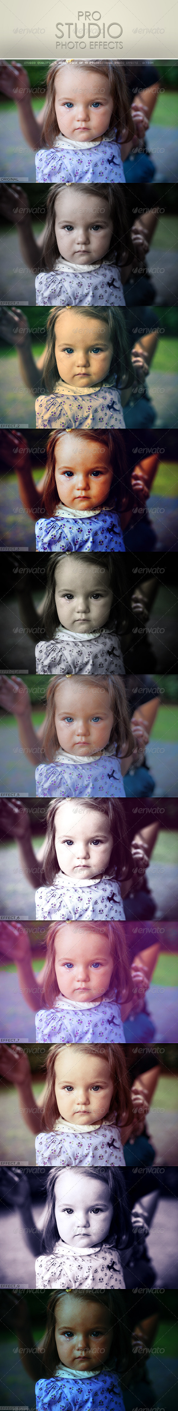 GraphicRiver 10 Pro Studio Photo Effect Actions 573741