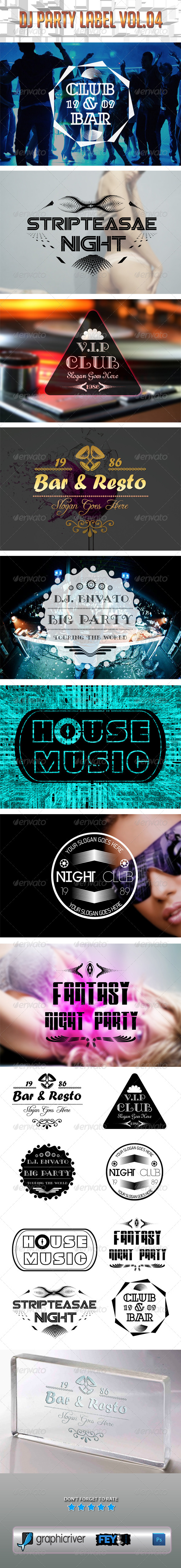 GraphicRiver Dj Party Label Vol.04 5615164